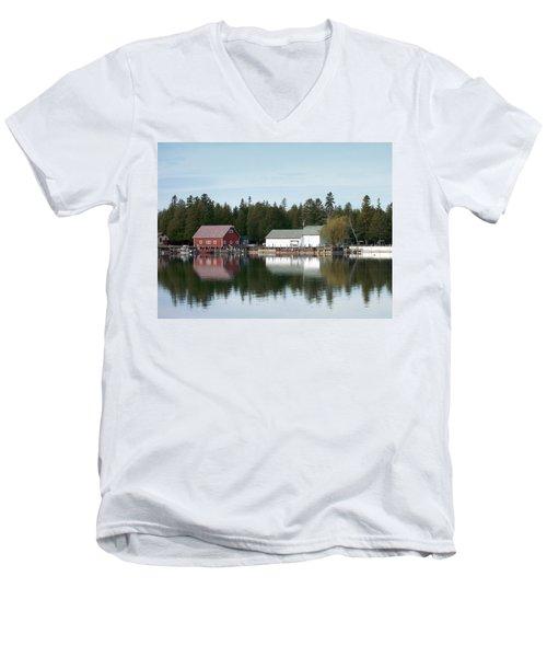 Washington Island Harbor 7 Men's V-Neck T-Shirt