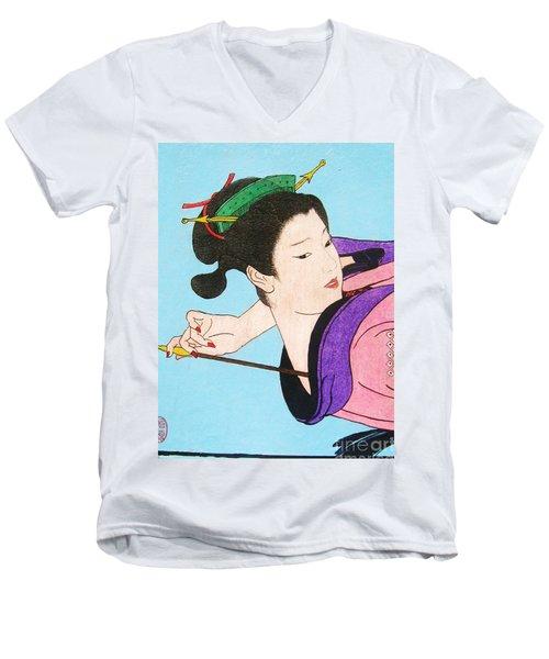 Watashi No Senaka O Kaite Men's V-Neck T-Shirt by Roberto Prusso
