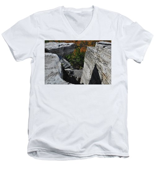 Watch Your Step Men's V-Neck T-Shirt