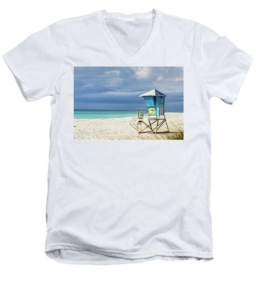 Lifeguard Tower Florida Gulf Coast Men's V-Neck T-Shirt