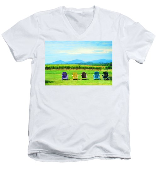 Watching The Grapes Grow Men's V-Neck T-Shirt