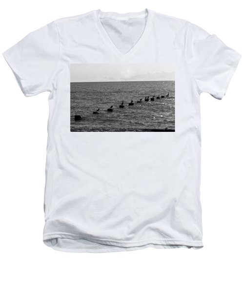 Water Birds Men's V-Neck T-Shirt