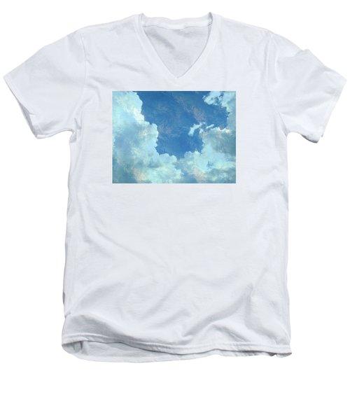 Water Clouds Men's V-Neck T-Shirt by Robin Regan