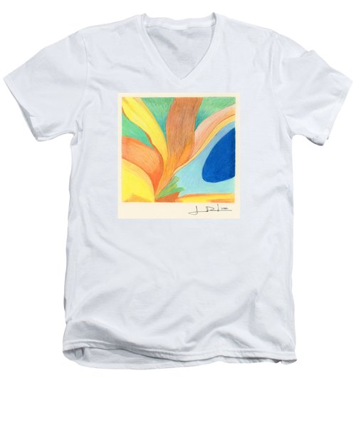 Water Grass Blue Pond Men's V-Neck T-Shirt
