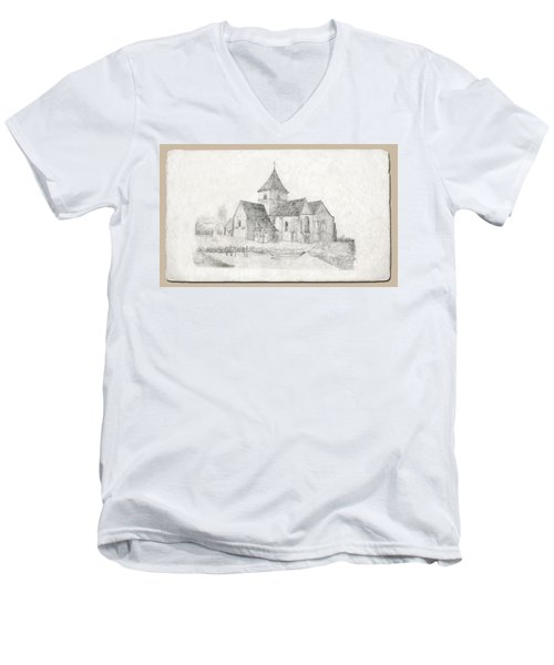 Water Inlet At Church Men's V-Neck T-Shirt