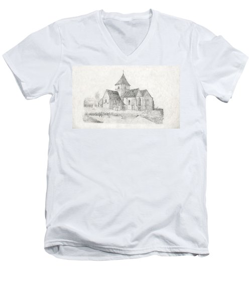 Water Inlet Near Church Men's V-Neck T-Shirt