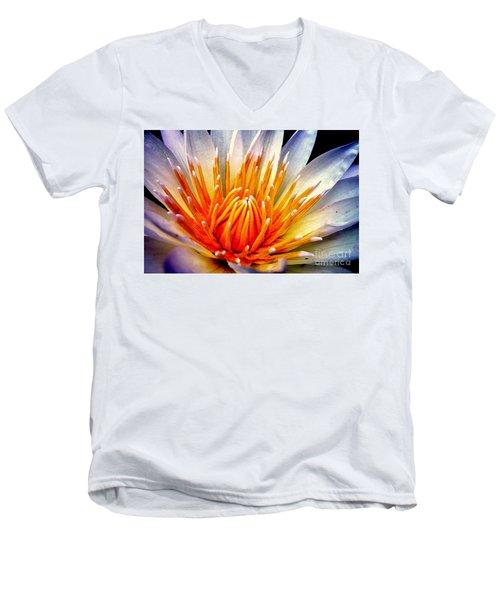 Water Lily Flower Men's V-Neck T-Shirt