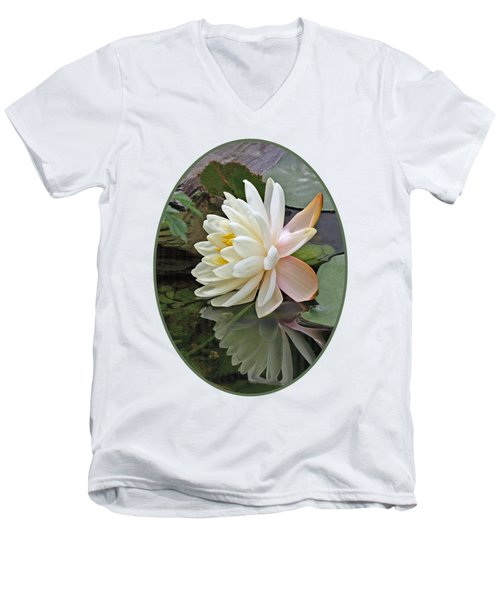 Water Lily Reflections Men's V-Neck T-Shirt by Gill Billington