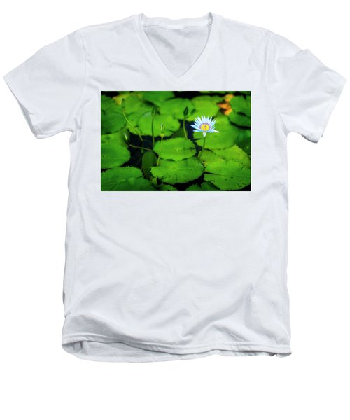Men's V-Neck T-Shirt featuring the photograph Water Logged by Ryan Manuel