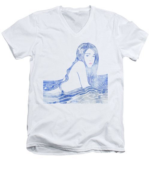 Water Nymph Lxxvi Men's V-Neck T-Shirt