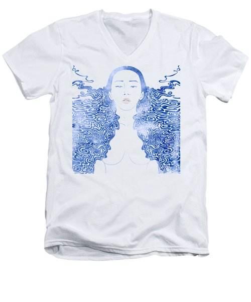 Water Nymph Lxxx Men's V-Neck T-Shirt by Stevyn Llewellyn