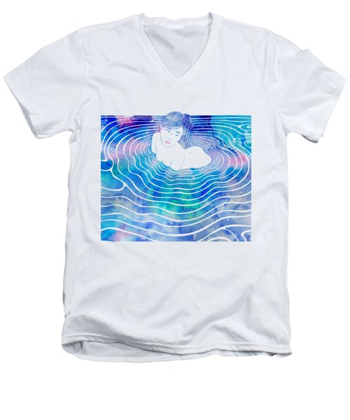 Water Nymph Lxxxix Men's V-Neck T-Shirt by Stevyn Llewellyn