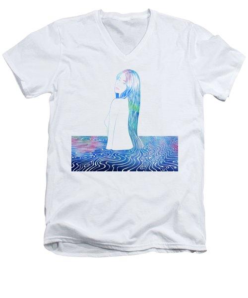Water Nymph Lxxxv Men's V-Neck T-Shirt by Stevyn Llewellyn