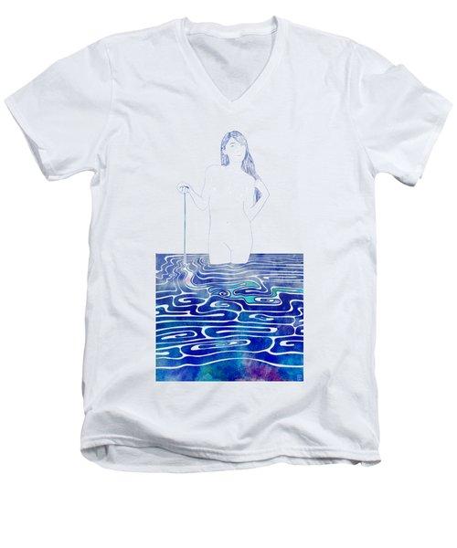 Water Nymph Xc Men's V-Neck T-Shirt by Stevyn Llewellyn