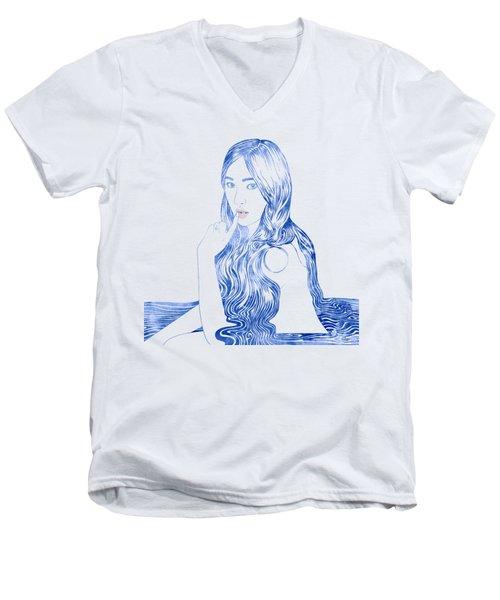 Water Nymph Xcvi Men's V-Neck T-Shirt by Stevyn Llewellyn