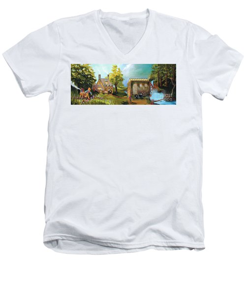 Water Wheel Men's V-Neck T-Shirt