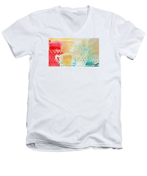Watercolor Glassware Men's V-Neck T-Shirt