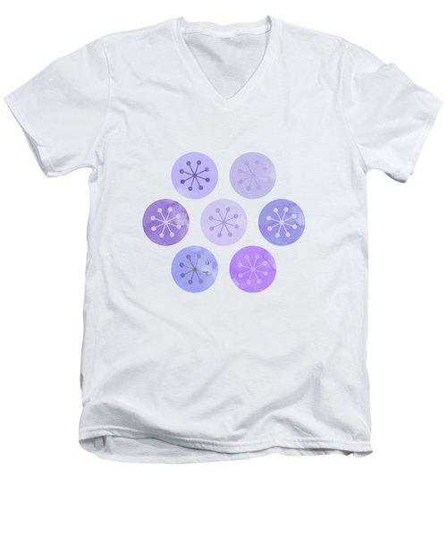 Watercolor Lovely Pattern II Men's V-Neck T-Shirt