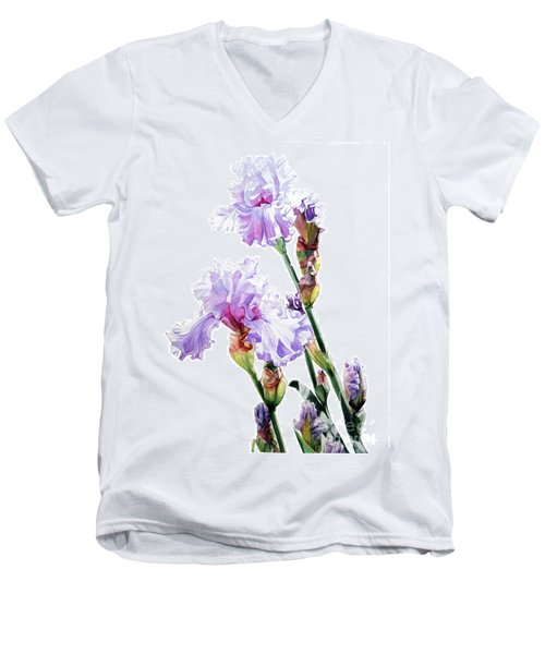 Watercolor Of A Tall Bearded Iris I Call Lilac Iris Wendi Men's V-Neck T-Shirt