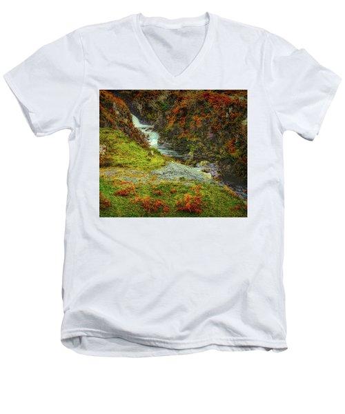 Waterfall 1 #g9 Men's V-Neck T-Shirt