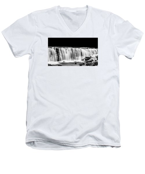 Waterfall At Night Men's V-Neck T-Shirt