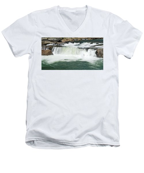 Waterfall At Ohiopyle State Park Men's V-Neck T-Shirt