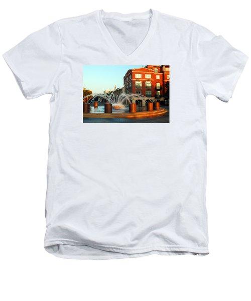 Waterfront Park Charleston Men's V-Neck T-Shirt by James Kirkikis