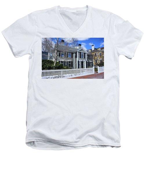 Waterhouse House In Cambridge Men's V-Neck T-Shirt