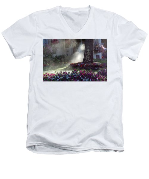 Watering The Lawn Men's V-Neck T-Shirt by Keith Boone