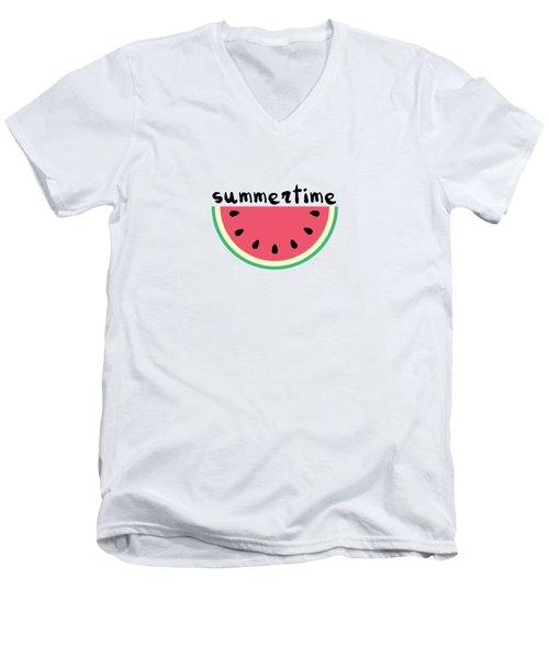 Watermelon Men's V-Neck T-Shirt