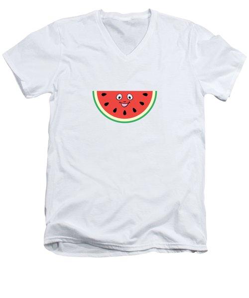 Watermelon Ornament Men's V-Neck T-Shirt by Alina Krysko