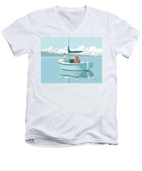 Wating For The Wind Men's V-Neck T-Shirt