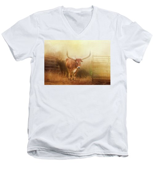 Watusi In The Dust And Golden Light Men's V-Neck T-Shirt