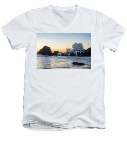 Wave Burst Men's V-Neck T-Shirt