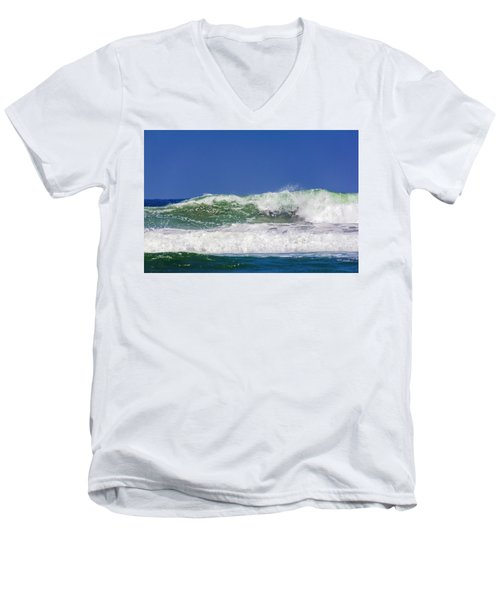 Wave Rolling To The Beach Men's V-Neck T-Shirt