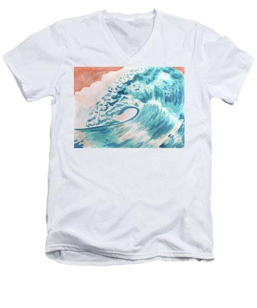 Wave Men's V-Neck T-Shirt by Whitney Morton