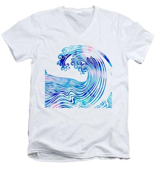 Waveland Men's V-Neck T-Shirt by Stevyn Llewellyn