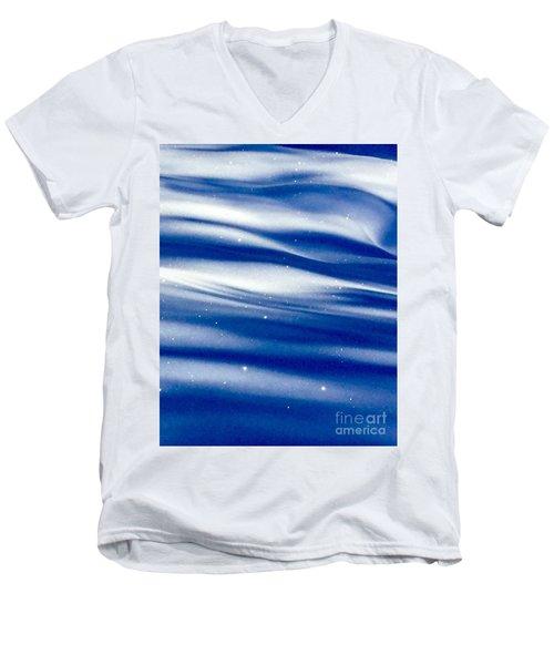 Waves Of Diamonds Men's V-Neck T-Shirt by Jennifer Lake