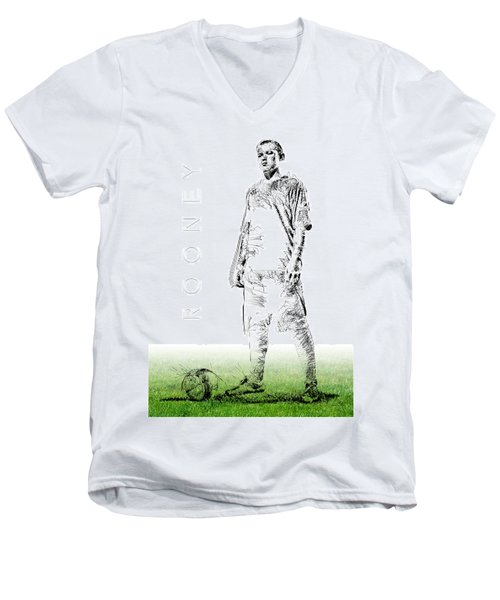 Wayne Rooney Men's V-Neck T-Shirt by ISAW Gallery