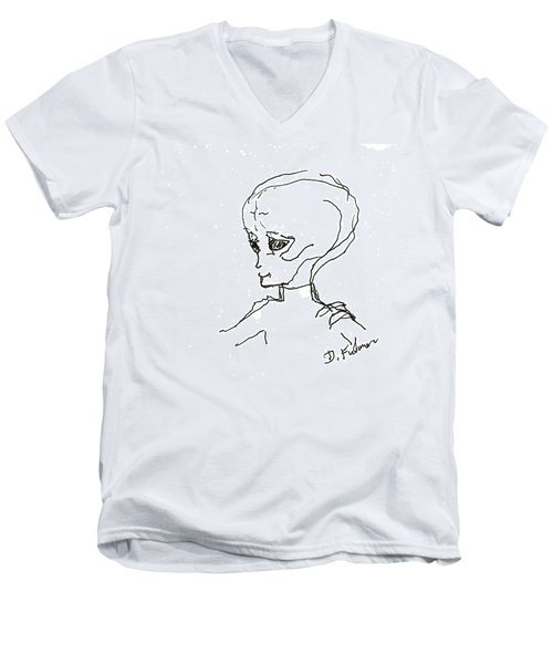 We Are Not Alone Men's V-Neck T-Shirt