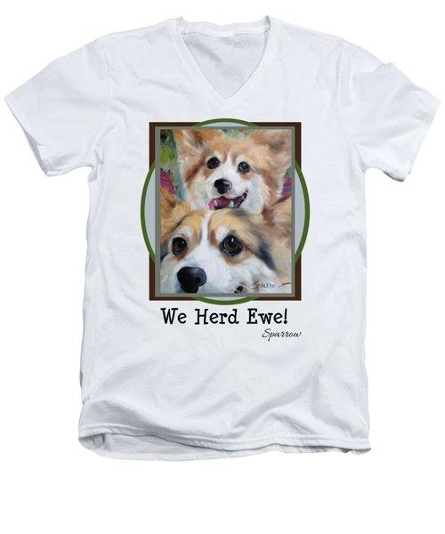 We Herd Ewe Men's V-Neck T-Shirt