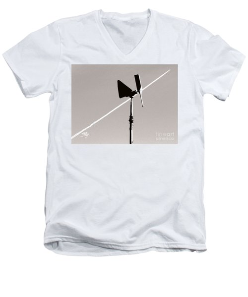 Men's V-Neck T-Shirt featuring the photograph Weather Vane by Linda Hollis