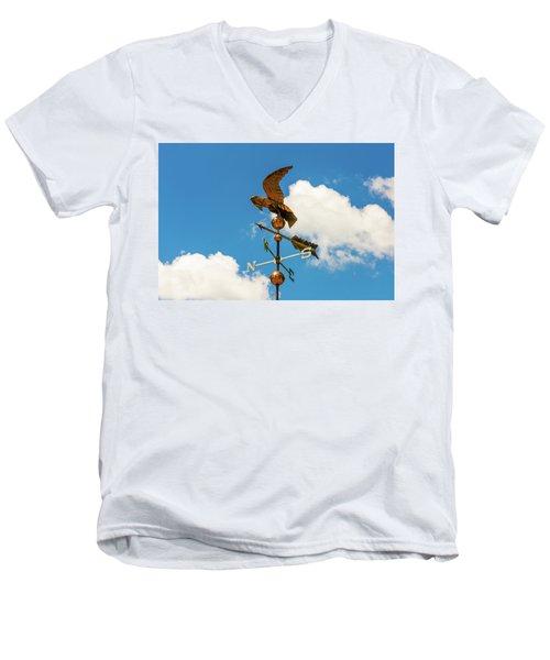 Weather Vane On Blue Sky Men's V-Neck T-Shirt