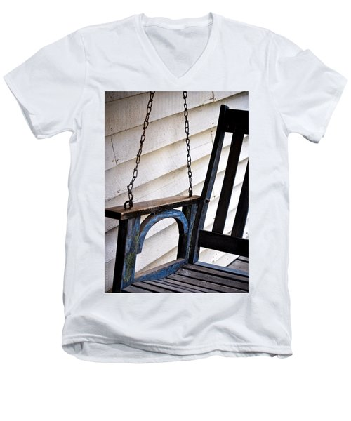 Weathered Porch Swing Men's V-Neck T-Shirt by Debbie Karnes