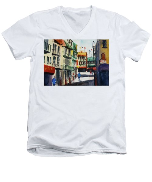 Waverly Place Men's V-Neck T-Shirt by Tom Simmons