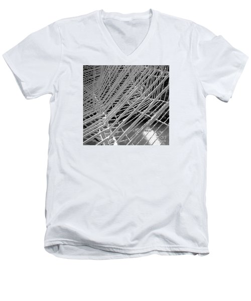 Men's V-Neck T-Shirt featuring the photograph Web Wired by Cathy Dee Janes