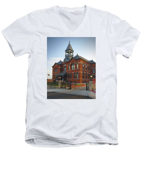 Men's V-Neck T-Shirt featuring the photograph Webster House by Jim Mathis