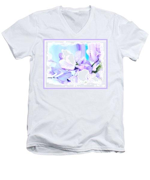 Wedding Flower Pedals Men's V-Neck T-Shirt by Marsha Heiken
