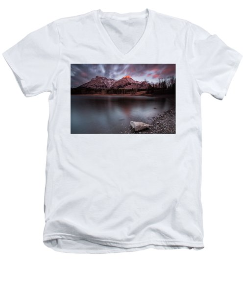 Wedge Pond Dawn Men's V-Neck T-Shirt