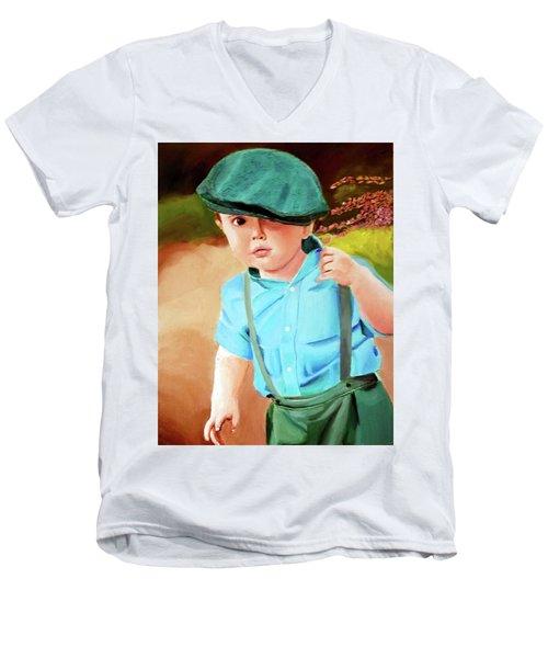 Wee Laddie  Men's V-Neck T-Shirt